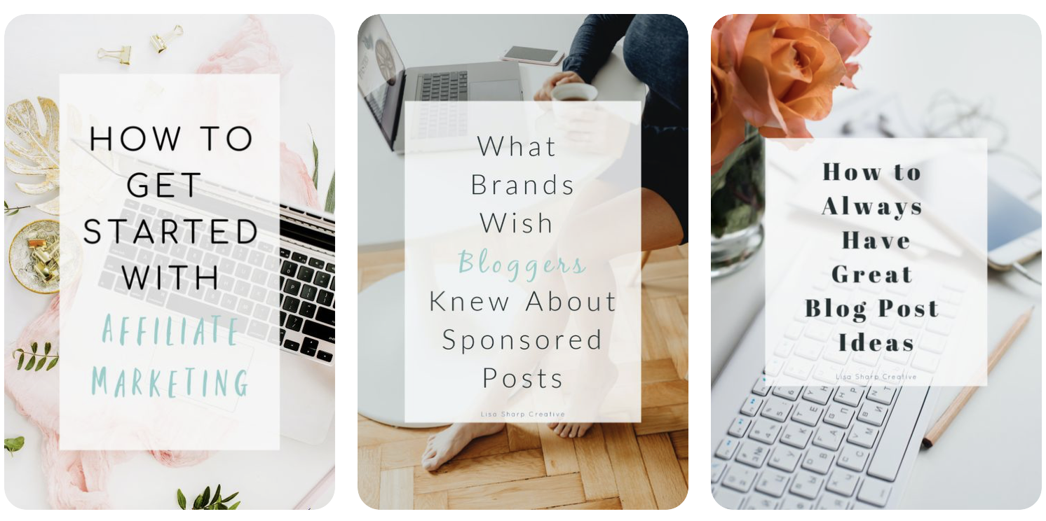 examples of Pinterest pins