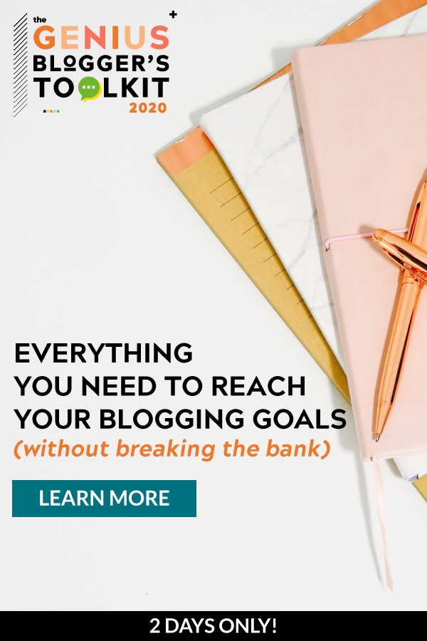 Genius Blogger's Toolkit banner